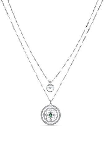 Swarovski Kette mit Anhänger »Swarovski Symbolic Mandala weiss, rhodiniert, 5541987«,... kaufen