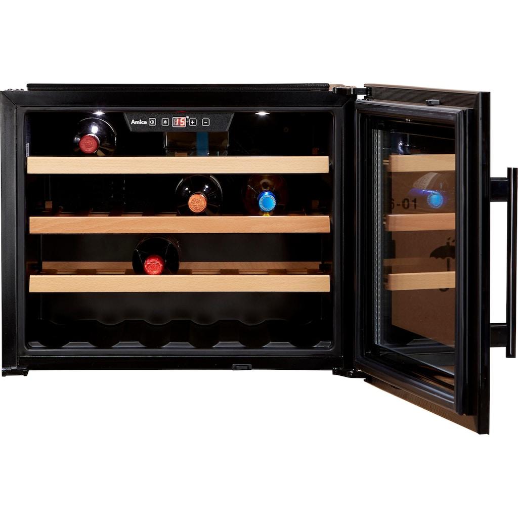 Amica Einbauweinkühlschrank »WK 341 200 S«, für 24 Standardflaschen á 075l, LED-Beleuchtung