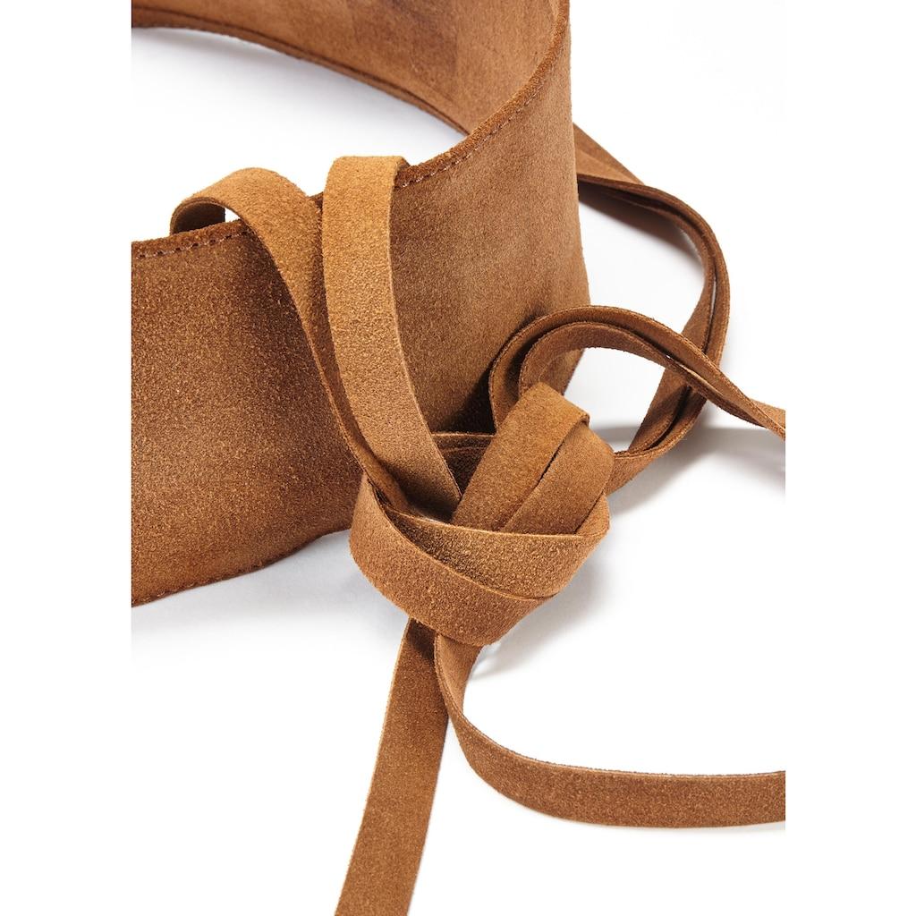 LASCANA Taillengürtel, aus weichem Leder