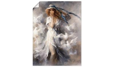 Artland Wandbild »Tauben«, Frau, (1 St.), in vielen Größen & Produktarten... kaufen