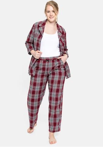 Sheego Pyjama, aus weichem Flanell kaufen
