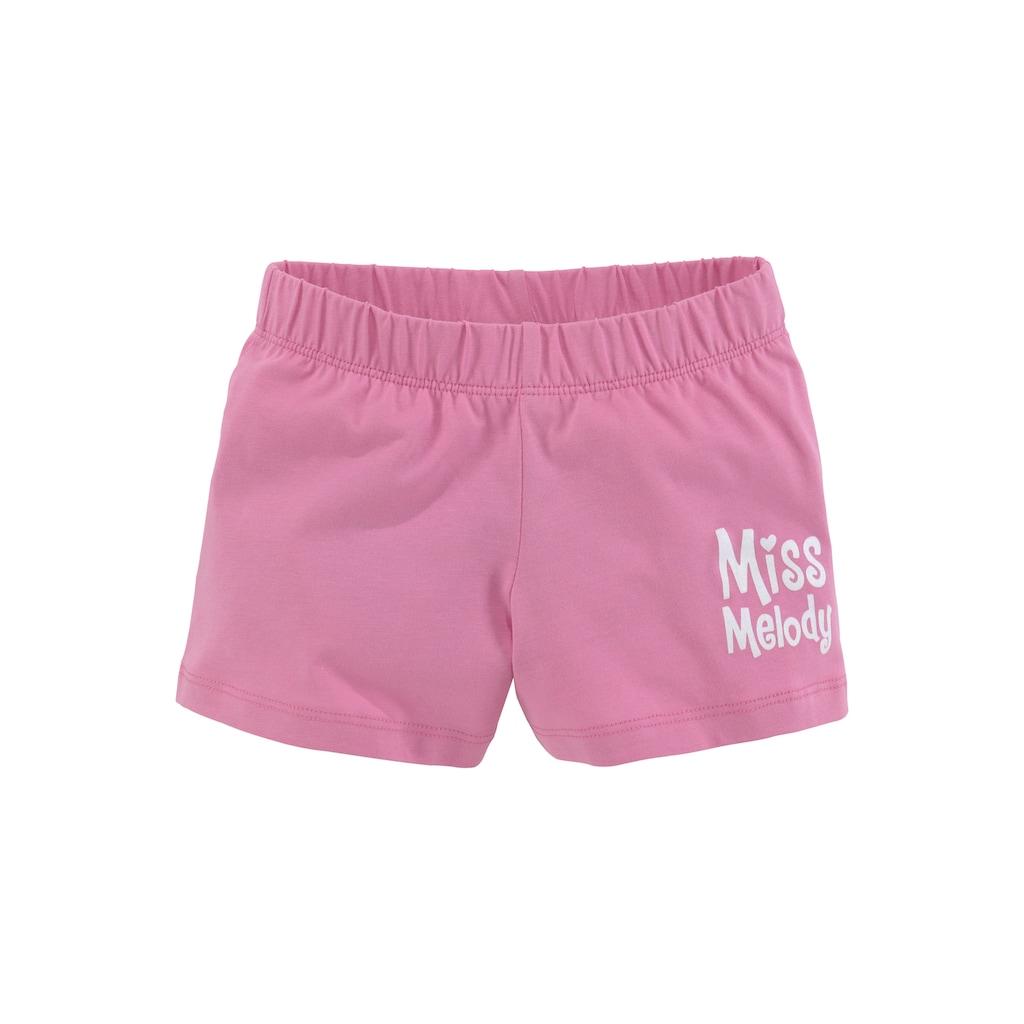 Miss Melody Shirt & Shorts, mit schönem Pferdemotiv