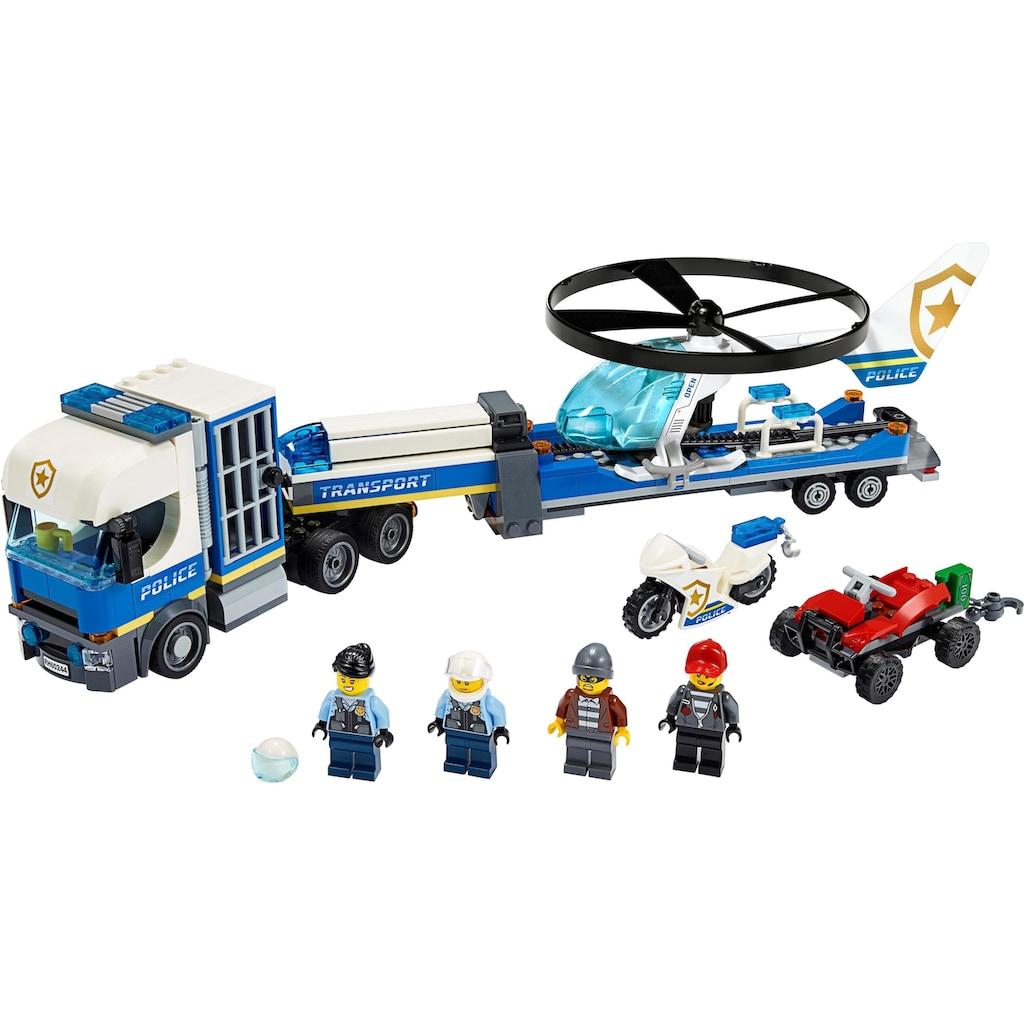 LEGO® Konstruktionsspielsteine »Polizeihubschrauber-Transport (60244), LEGO® City«, (317 St.), Made in Europe