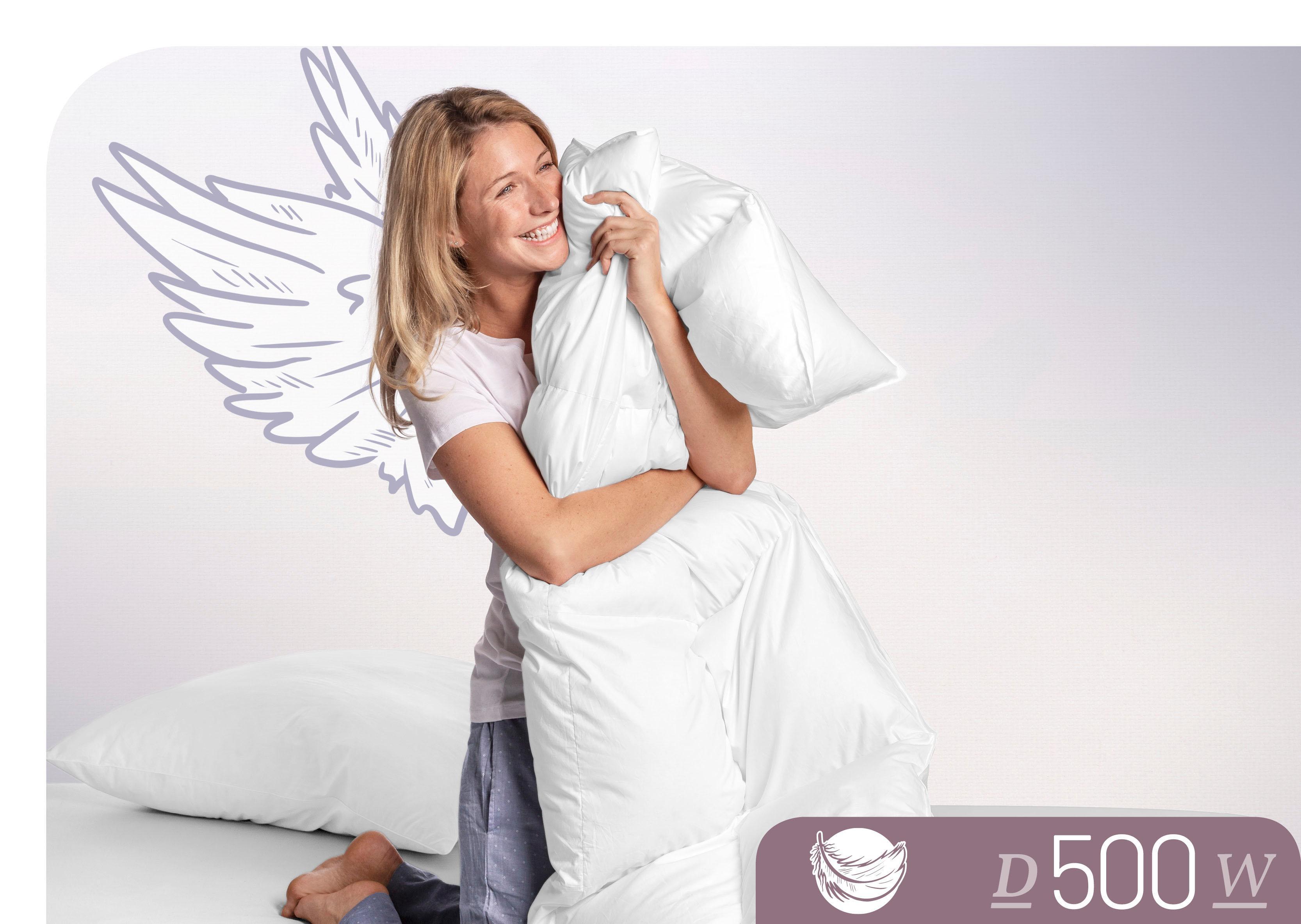 Daunenbettdecke D500 Schlafstil warm Füllung: 100% Daunen Bezug: 100% Baumwolle