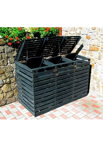 promadino Mülltonnenbox, für 3x240 l aus Holz, BxTxH: 202x92x122 cm kaufen