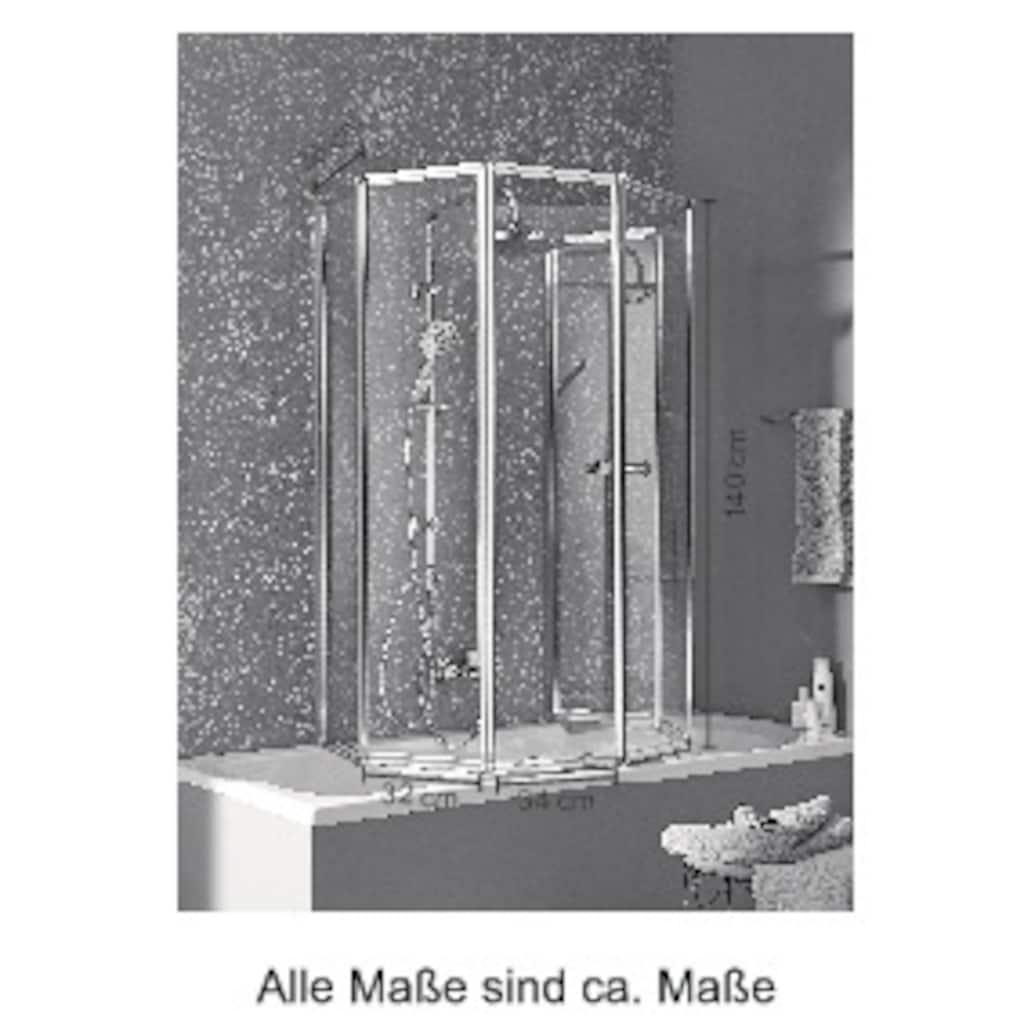 welltime Badewannenaufsatz »Summer«, Faltwand