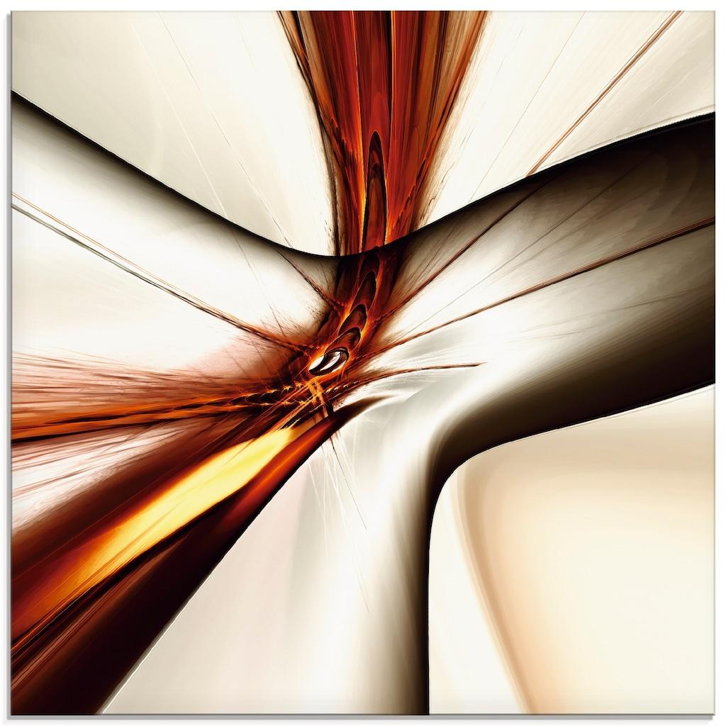 Artland Glasbild »Abstrakt modern«, Muster, (1 St.)