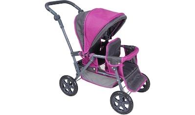 "Knorrtoys® Puppen - Zwillingsbuggy ""BigTwin  -  tec purple"" kaufen"
