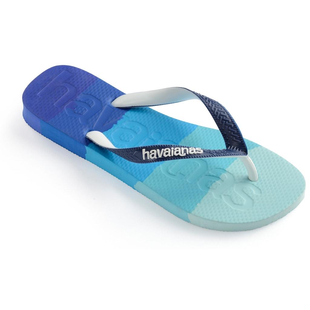 Havaianas Zehentrenner »TOP LOGOMANIA MULTICOLOR«, im trendigen Colour-Blocking