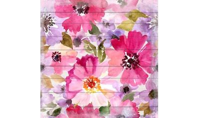 queence Holzbild »Samantha«, Blumen, (1 St.) kaufen