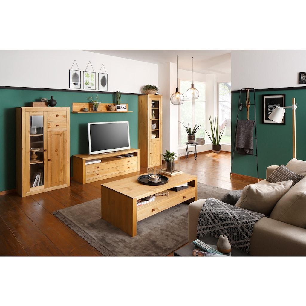 Home affaire Wohnwand »Agave«, (Set, 4-tlg.), aus massiver Kiefer