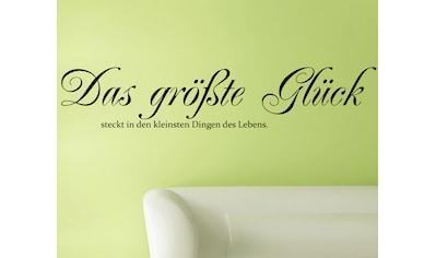 QUEENCE Wandtattoo »Das größte Glück...«, 120 x 30 cm kaufen