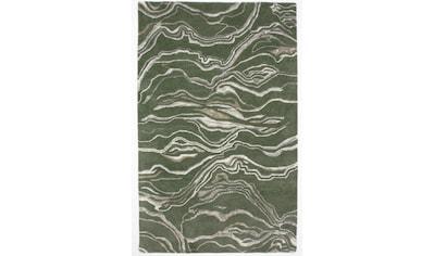 morgenland Wollteppich »Designer Teppich handgetuftet grün«, rechteckig, 18 mm Höhe kaufen