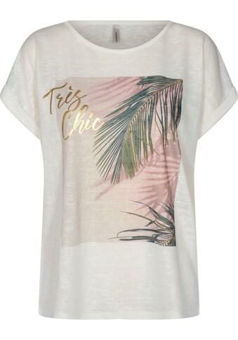 soyaconcept Rundhalsshirt, mit Palmblattdruck auf der Vorderseite kaufen
