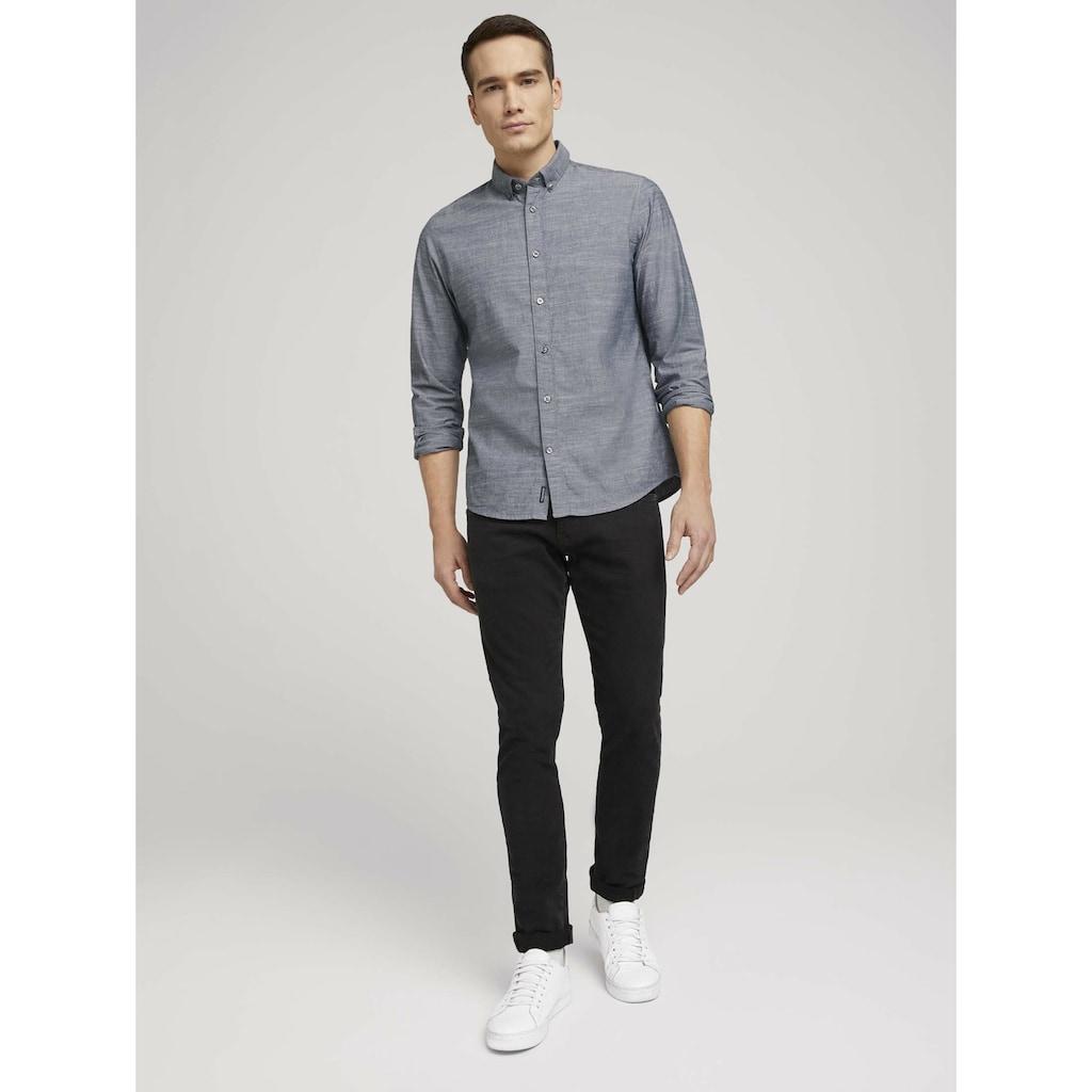 TOM TAILOR Langarmhemd »Hemd mit Bio-Baumwolle und Button-Down-Kragen«