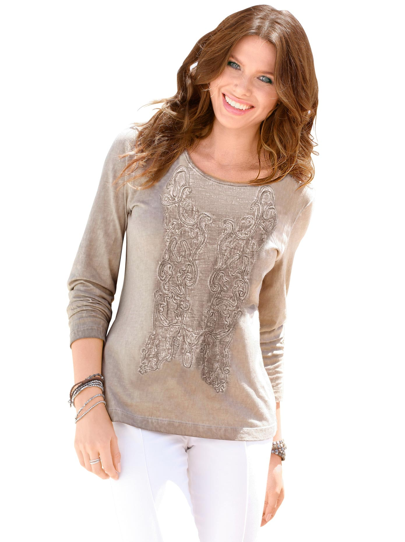 Ambria Longshirt mit langen Ärmeln   Bekleidung > Shirts > Longshirts   Ambria