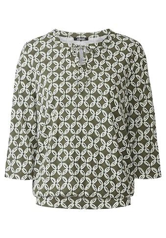 Olsen 3/4-Arm-Shirt, mit Bindeband am Ausschnitt kaufen