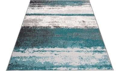 my home Teppich »Arno«, rechteckig, 10 mm Höhe, Streifen-Optik, Wohnzimmer kaufen
