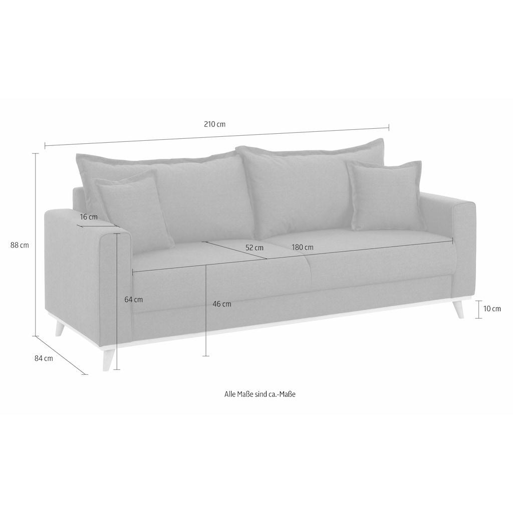 Home affaire 3-Sitzer »Edina«, auch in Baumwollmix-Bezug, im skandinavischem Stol