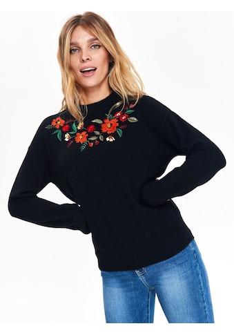 TOP SECRET Pullover mit modischer Blüten - Stickerei kaufen