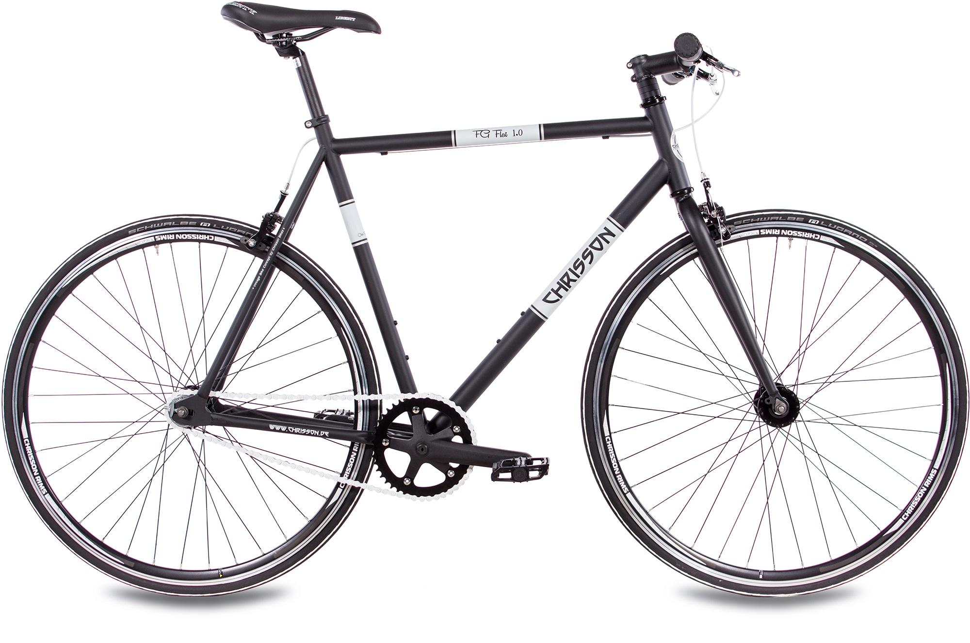 Chrisson Singlespeed FG Flat 1.0, 1 Gang ohne Schaltung (1-tlg.) schwarz Fahrräder Zubehör Fahrrad