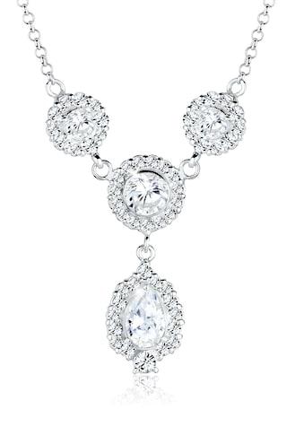 Elli Statementkette »Tropfen Swarovski® Kristalle 925 Sterling Silber« kaufen