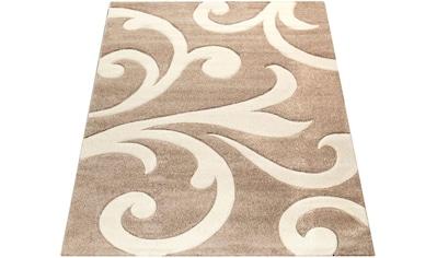Paco Home Teppich »Diamond 761«, rechteckig, 18 mm Höhe, 3D-Design, Kurzflor mit Ornamenten, Wohnzimmer kaufen