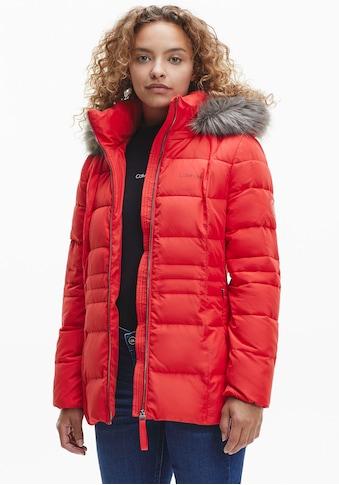 Calvin Klein Steppjacke »ESSENTIAL SORONA JACKET«, mit Fellimitat an der Kapuze &... kaufen