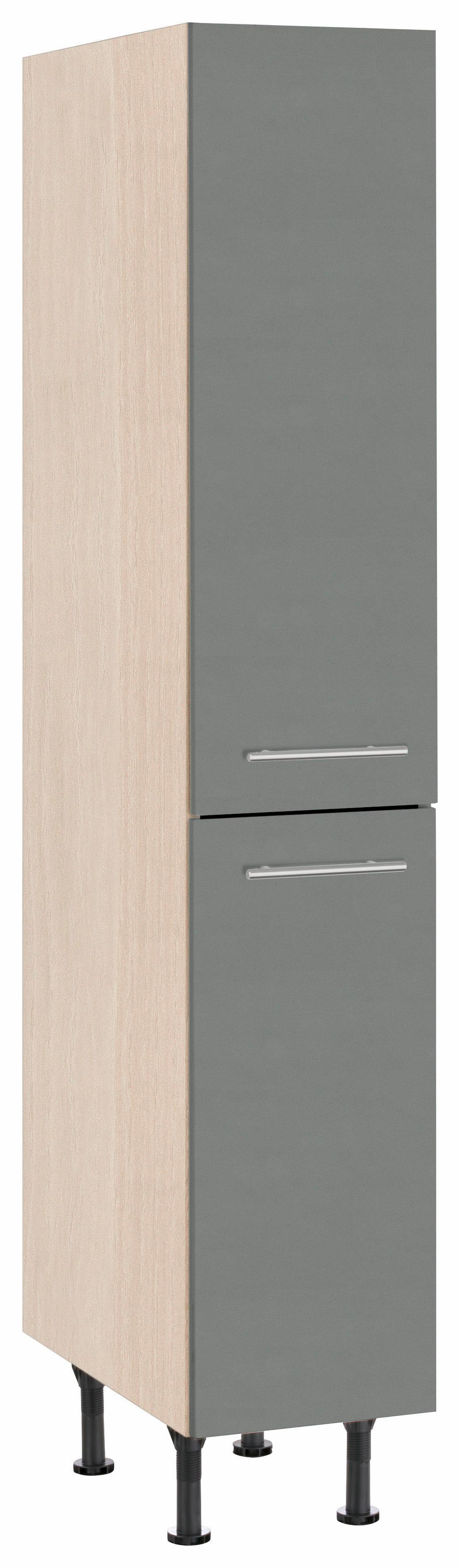 OPTIFIT Apothekerschrank Bern | Küche und Esszimmer > Küchenschränke > Apothekerschränke | Grau | Nachbildung - Edelstahl - Melamin | Optifit