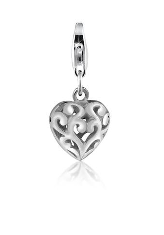 Nenalina Charm - Einhänger »Herz Ornament Anhänger Love liebe 925 Silber« kaufen