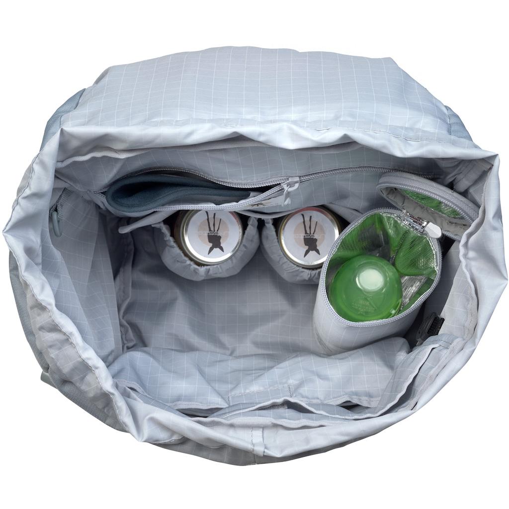 LÄSSIG Wickelrucksack »Green Label, Outdoor, grey«, Reflektoren, PETA-approved vegan; zum Teil aus recycelten Material