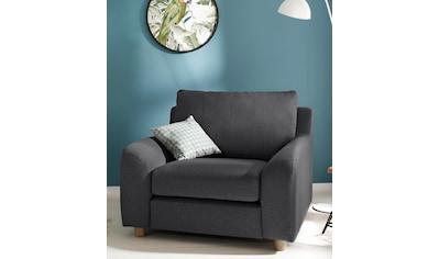 Home affaire Sessel »Kolding«, im nordischen Stil, mit losen Kissen und Holzbeinen kaufen