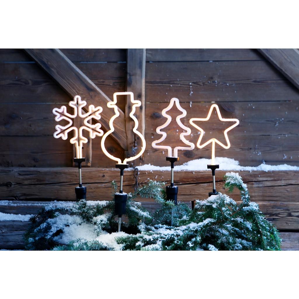 BONETTI Gartenstecker »Stern«, LED Neon Stab für den Garten