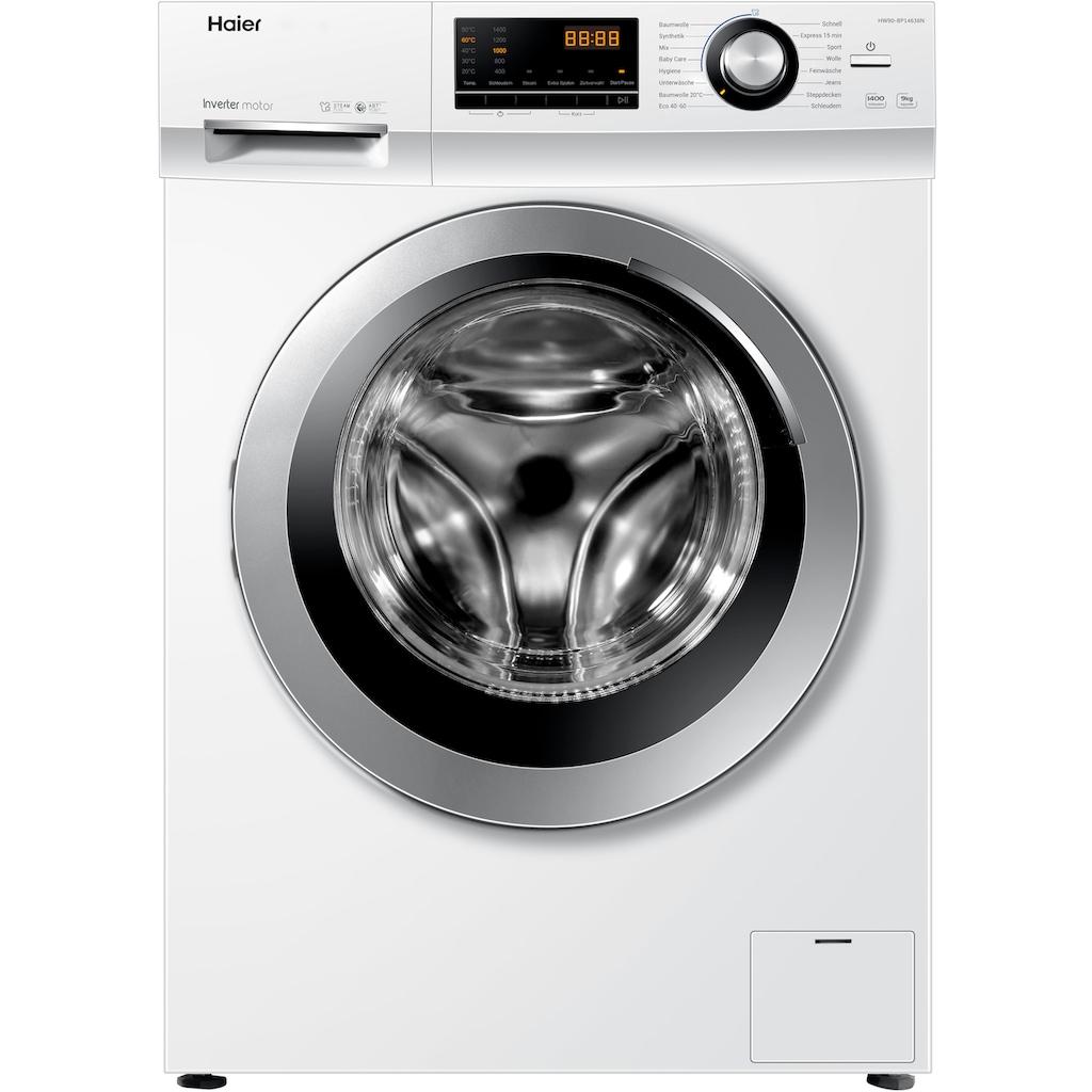 Haier Waschmaschine »HW90-BP14636N«, HW90-BP14636N, 9 kg, 1400 U/min