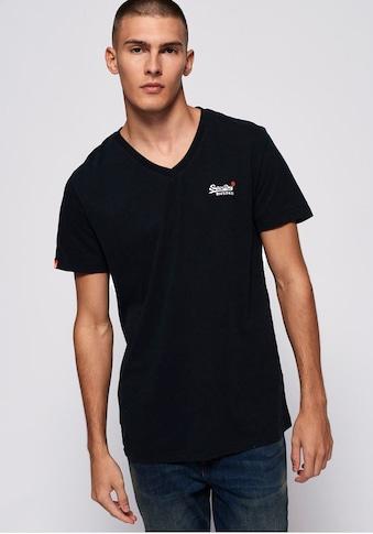 Superdry V - Shirt »VINTAGE EMB S/S VEE TEE« kaufen