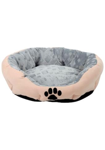 SILVIO DESIGN Hundekissen und Katzenkissen »Snow M«, B/L/H: 46/56/19 cm, sandfarben kaufen