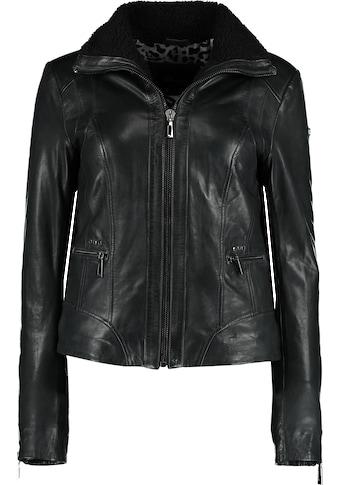 DNR Jackets Lederjacke, mit Reißverschluss und Kontrastfutter kaufen