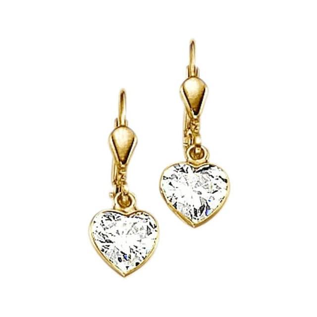 Firetti Paar Ohrhänger »Herz, romantisch glänzend«, mit Zirkonia