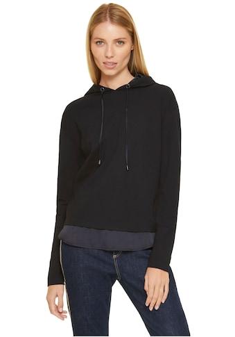 Comma Kapuzensweatshirt, mit Satin-Blende im Lagenlook kaufen