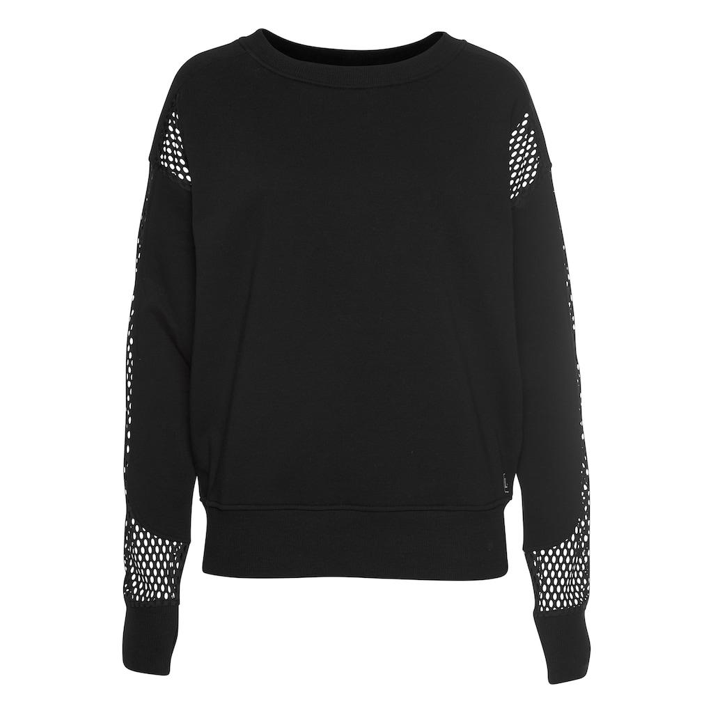LASCANA ACTIVE Sweatshirt »Technical Red«, mit Mesh-Einsätzen und Cutout