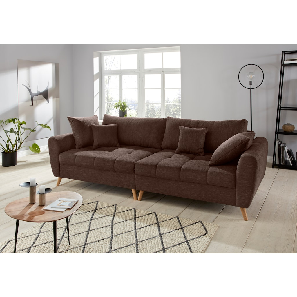 andas Big-Sofa »Blackburn Luxus«, mit besonders hochwertiger Polsterung für bis zu 140 kg Belastbarkeit