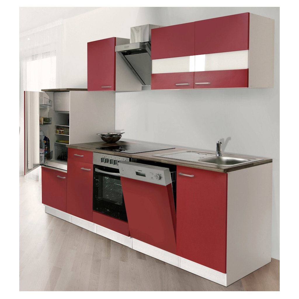 RESPEKTA Küchenzeile »Economy«, mit E-Geräten, Breite 280 cm