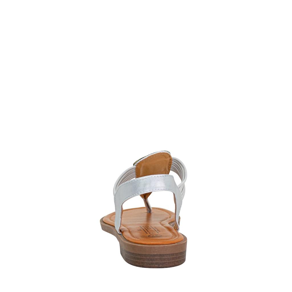 Fitters Footwear Sandale »FRIDA«, mit aufwendiger Steinchen-Verzierung