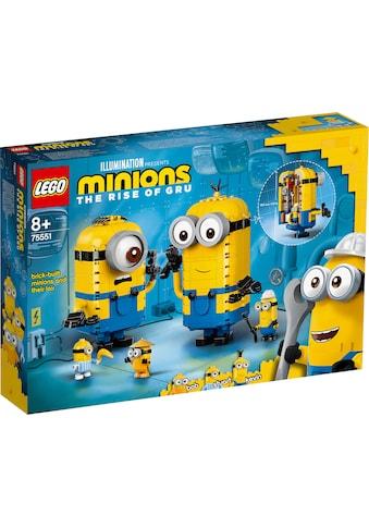 LEGO® Konstruktionsspielsteine »Minions-Figuren Bauset mit Versteck (75551), LEGO®... kaufen