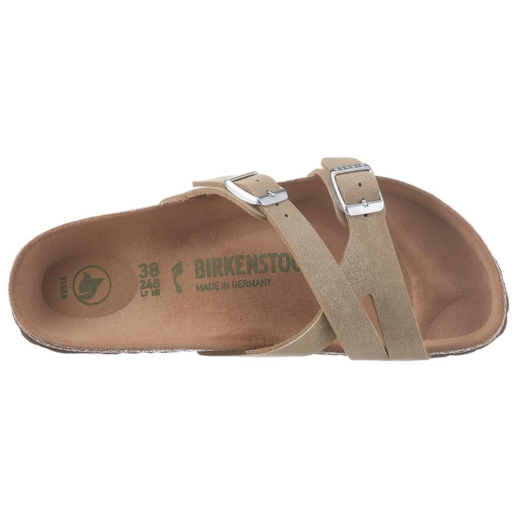 Birkenstock Pantolette »YAO«, mit ergonomisch geformtem Fußbett, Schuhweite: schmal