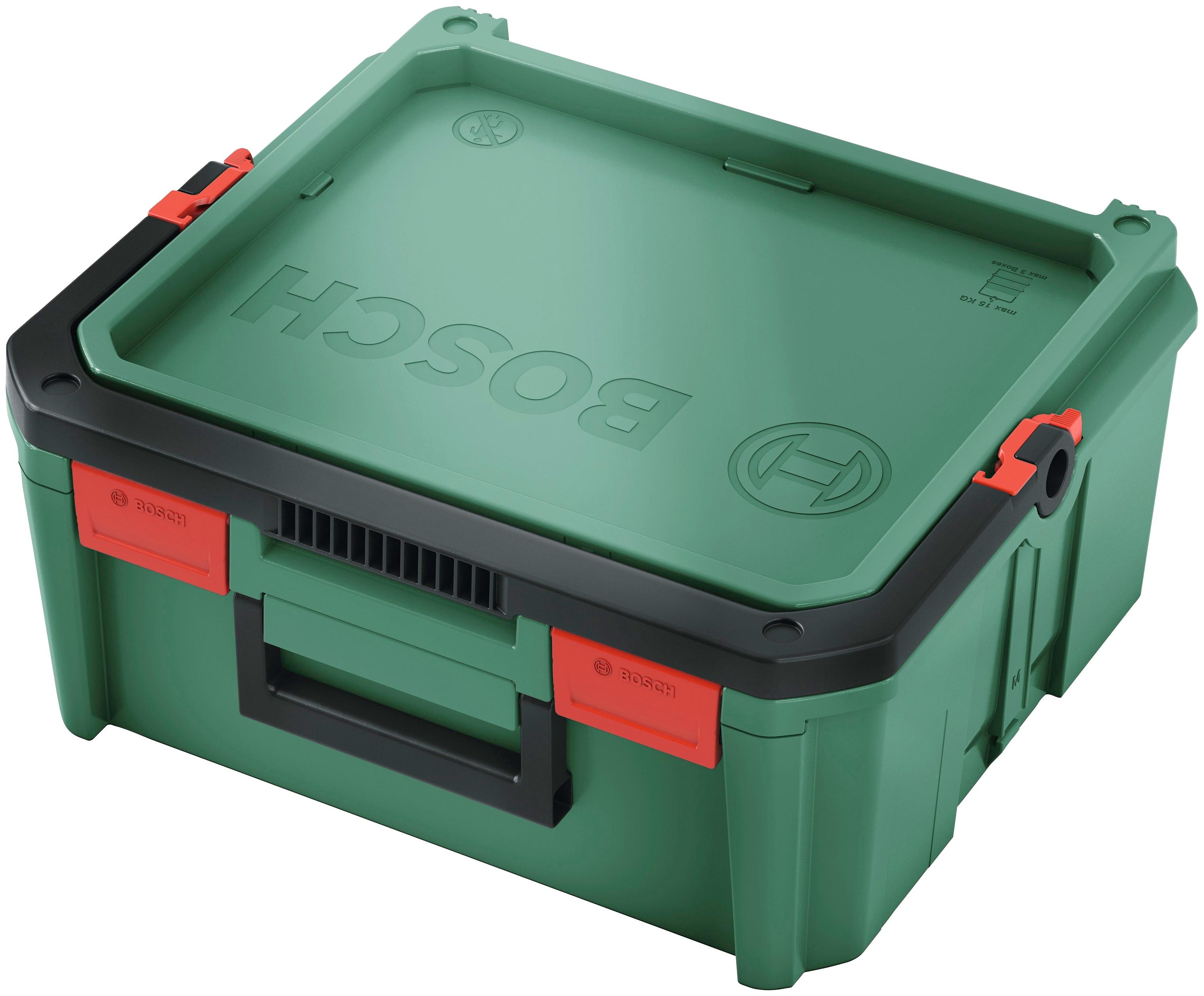 BOSCH Aufbewahrungsbox SystemBox Größe M, (1 St.) grün Werkzeugkoffer Werkzeug Maschinen