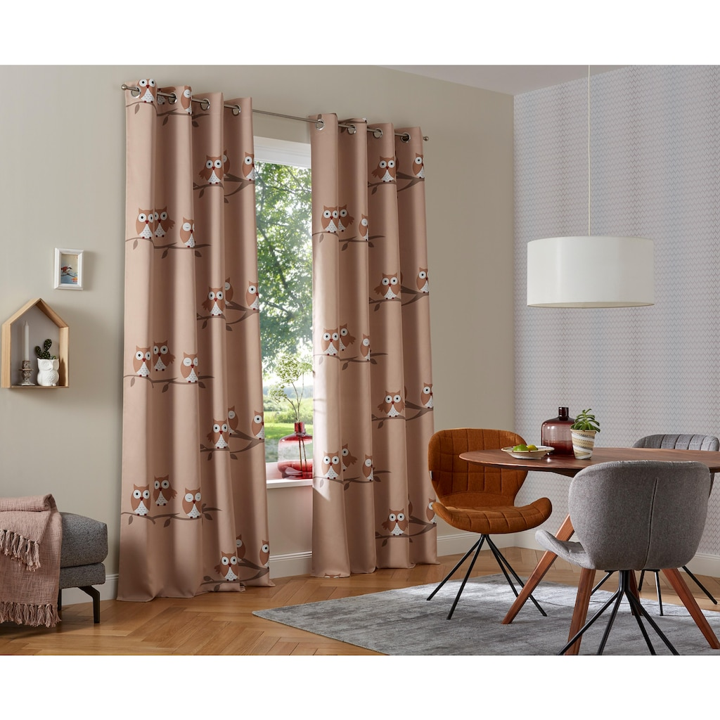 my home Verdunkelungsvorhang »Linea«, Vorhang, Gardine, Fertiggardine, verdunkelnd