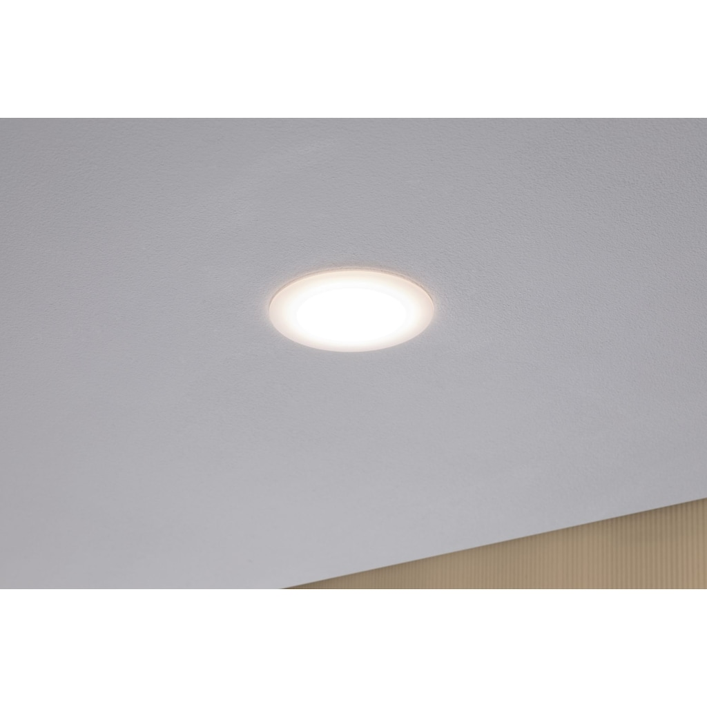 Paulmann LED Einbaustrahler »Set Suon dimmbar 2700K 3x6,5W 230 V Satiniert«, 3 St., Warmweiß