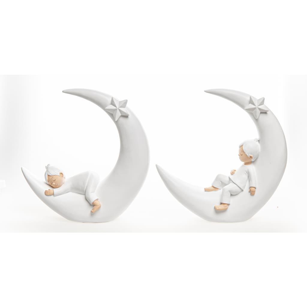 VALENTINO Wohnideen Dekofigur »Moritz im Mond«, aus Polyresin