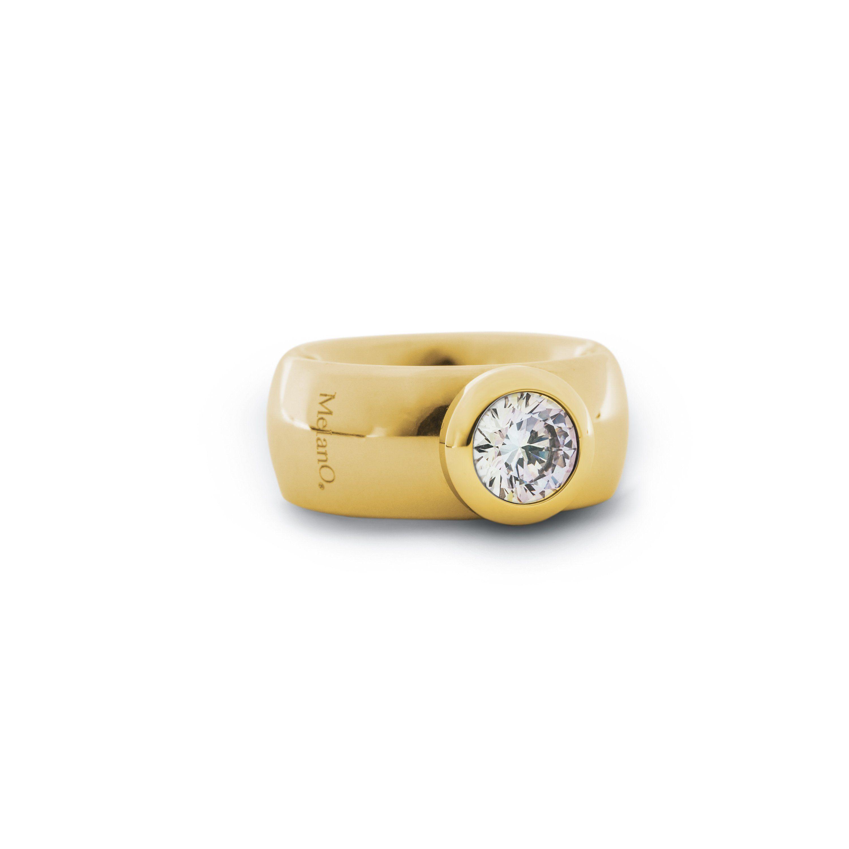 melano Ring mit Steinbesatz